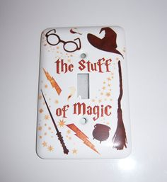 Wizard themed single light switch cover by MoanasUniqueDesigns, $10.00 Harry Potter