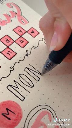 Bullet Journal Paper, Bullet Journal Lettering Ideas, Bullet Journal Notebook, Journal Diary, Bullet Journal Ideas Pages, Bullet Journal Inspiration, Hand Lettering Art, Hand Lettering Tutorial, School Organization Notes