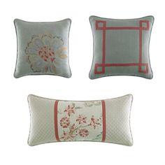 Light & breezy summer decorative pillows!  http://www.croscill.com/product/decorative-pillows/474781-9343/retreat-decorative-pillows.html