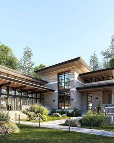 35 Amazing contemporary House Design – My World Rustic Home Design, Modern House Design, Modern Zen House, Modern Contemporary Homes, Contemporary House Designs, Dream House Exterior, Facade House, Home Fashion, Exterior Design