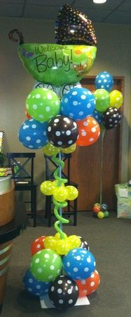 I am having two of these made for our Baby-Q shower :) Baby Shower Balloon Decor.