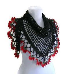 Tığ işi siyah bayan şal modeli çiçekli Likeknitting Crochet'in harika tasarımlarından biri olan bu şık bayan şal modeli kenar süslemelerinin de çiçekli olması alışılmışın dışında olan bir tasarım o...