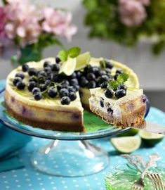 Blåbärscheesecake med lime
