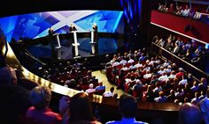 06/8/14 Scottish Independence debate was hosted by Bernard Ponsonby at the Royal Conservatoire of Scotland on 5 August 2014 in Glasgow, Scotland. Photograph: Jeff J M...