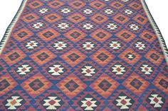 Unique Afghan Kilim Area Rug Hand Woven 100% Wool Carpet Multicolor Kelim 9'x6'  #Tribal