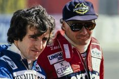 Alain Prost and Niki Lauda.Streets of Long Beach, United States of AmericaApril Alain Prost, Long Beach, Formula 1, Race Cars, Pilot, F1, United States, Portrait, America
