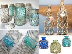 decoración marinera con botes Prom Decor, Mermaid Parties, Beach House Decor, Repurposed, Nautical, Mason Jars, Diy Crafts, Diy Decoration, Crafty