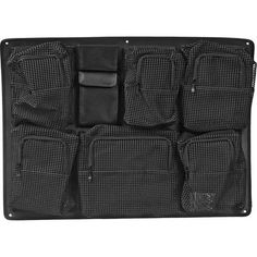 Pelican 1639 Lid Organizer (Black): Allows user to safely store and organize items in the lid of the 1630 case Tactical Uniforms, Pelican Case, Lid Organizer, Organization, Wallet, Zippers, Touch, Pockets, Store
