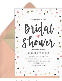 11 Virtual Bridal Shower Invitations That Aren't Tacky | Emmaline Bride Create Invitations, Invitation Paper, Invites, Bridal Shower Favors, Bridal Shower Invitations, Youre Invited, Gender Neutral, Confetti, Babyshower