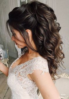 100 Wow-Worthy Long Wedding Hairstyles from Elstile [tps_header] 3 stylists and 3 branches in Moscow, Russiathe elstile. Petersburg (the elstile-spb.r) and Los Angeles, California (elstile. Wedding Hairstyles For Long Hair, Wedding Hair And Makeup, Bride Hairstyles, Pretty Hairstyles, Easy Hairstyles, Bridal Hair, Ponytail Wedding Hair, Fascinator Hairstyles, Hair Wedding