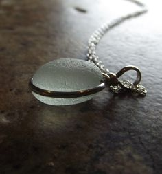 Sea Glass Jewelry - MERMAID'S TEAR - Seaglass Necklace
