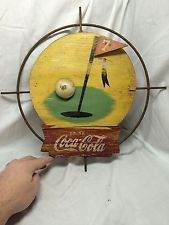 Coca Cola Coke Kay Display Wire form Wood Not Porcelain Sign Poster