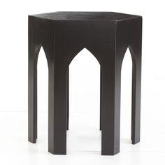 W9330Moroccan Table - Obsidian Black, Wisteria, $199