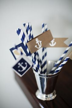 Nautical details: http://www.stylemepretty.com/maryland-weddings/2015/03/27/summer-navy-wedding-at-the-chesapeake-bay-beach-club/ | Photography: Love Life Images - http://lovelifeimages.com/