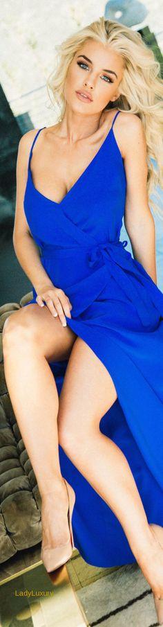 Lurelly Silk Wrap Dress   LadyLuxuryDesigns