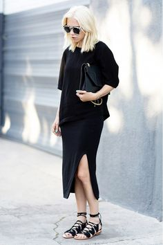 #moda #fashion fall winter 2014 otoño invierno total look #black