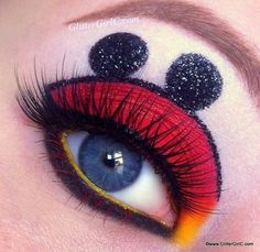 Mickey Mouse Makeup! How cool!!!! They need a Mickey Mouse emoji!