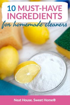 Natural cleaning products are easy to make if you have the ingredients at hand. Here is a list of must-have ingredients for homemade cleaners. Cleaning Recipes, House Cleaning Tips, Green Cleaning, Cleaning Hacks, Organizing Tips, Spring Cleaning, Best Toilet Bowl Cleaner, Arm And Hammer Super Washing Soda, Car Carpet Cleaner