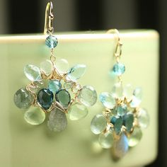 Statement Jewelry Wire Wrapped Earrings