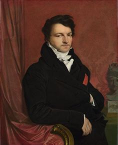 """""""Monsieur de Norvins"""", 1811-12, by Jean-Auguste-Dominique Ingres (French, 1780-1867). At the time the picture is said to have been painted, de Norvins was Chief of Police in the Napoleonic government in Rome."""