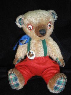 Mohair Teddy Bear by ToysOfYesteryear on Etsy, $82.00
