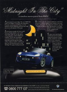 April Fools day advert - Midnight in the City