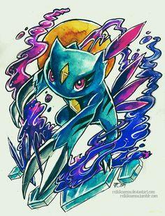 Pokemon Tattoo Designs by Jazmin Castillo, via Behance