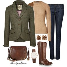 Classic Fall style, created by lovelyingreen on Polyvore