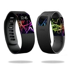 MightySkins Protective Vinyl Skin Decal for Fitbit Charge Watch cover wrap sticker skins Neon