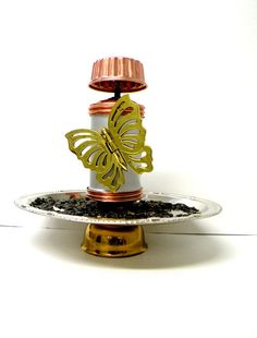 Luxury Recycled / Upcycled Metal Bird Feeder by UncommonRecycables, $38.00