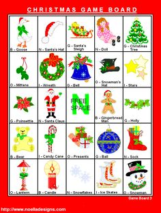 FREE Printable Christmas Bingo - Holiday Games at Kid Scraps. Would be great for Christmas light scavenger hunt!