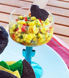 Nice refreshing tropical Mango Salsa Recipe from Ocean Reef Club in Key Largo, Florida.