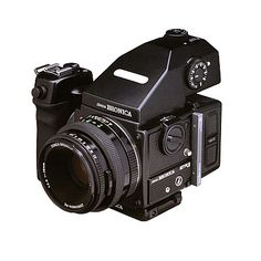 Bronica ETRS 120 w/ grip and view prism. Sold the Sinar F1 for this. In the end…