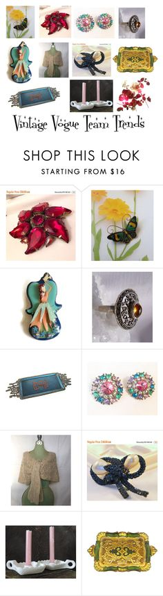 Vintage Vogue Team Trends by martinimermaid on Polyvore featuring vintage, jewelry, homedecor and collectibles