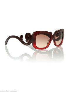 5a0054aa6b28d Prada SPR 270 MAX OA5 Womens Burgundy Rose Gradient Sunglasses  PRADA   Square Ray Ban