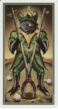 Good morning everyone. Today's card of the day is The Two of Wands. Today is going to be a long and taxing day, but push through and try to find some joy in your work. #tarot #wicca #fortuneteller