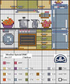 El blog de Dmc: Diagrama casa de punto de cruz: la buhardilla