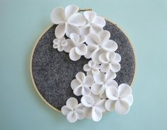 felt flower embroidery hoop