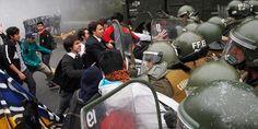 Enfrentamientos con Carabineros empañan marcha de estudiantes | Nacional | LA TERCERA