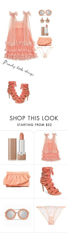"""""""Peachy little things'"""" by dianefantasy ❤ liked on Polyvore featuring Marc Jacobs, Chloé, Marie Turnor, Daya, Agent Provocateur, Ann Taylor, polyvorecommunity and polyvoreeditorial"""