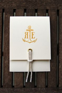 Invite. OMG if I went through with my nautical theme idea, this would have been the perrrfect invitation. WOWWW!!! -IB