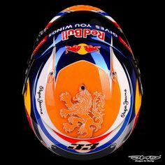 Max Verstappen Helmet Design Spa GP 2016
