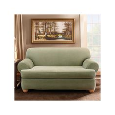 Serta Relaxed Fit Sofa Slipcover Brown Products Slipcovers and