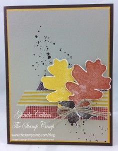 Gorgeous Grunge, could use Autumn Accents or Stitched Leaves dies for the leaf embellishment
