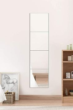 Amazon.com: Lecerent Full Length Wall Mirror with Acrylic Adhesive Tapes, 4pcs Frameless Body Mirror Tiles for Bedroom Bathroom Home Gym Closet Door: Kitchen & Dining Gym Mirrors, Mirror Tiles, Wall Mounted Mirror, Wall Mirror, Body Mirror, Closet Doors, Kitchen Dining, Adhesive, Amazon