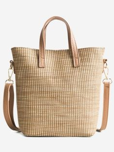 Travel Vacation Leisure Straw Tote Bag