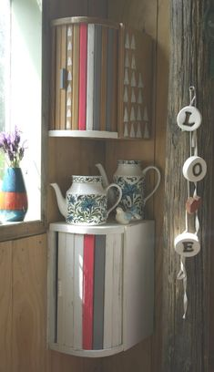 Upcycle breadbins into corner cabinets - Lulastic and the Hippyshake