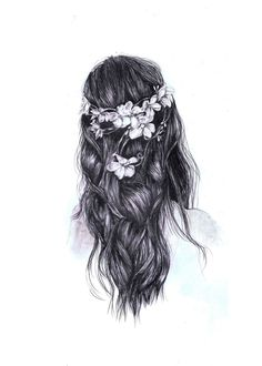 Beautiful tumblr drawing | hipster hair✨