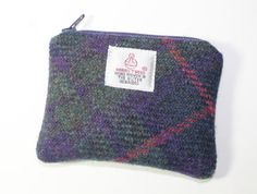 Harris Tweed purse coin purse change purse by Enchantingcrafts