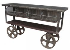 http://www.iometro.com/furniture/living-rooms/console-tables/trolley-console-table   Many functions !